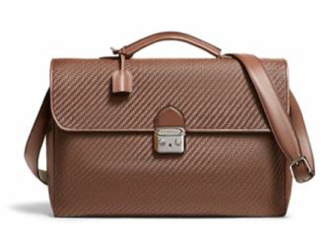 Ermenegildo Zegna brown luxury handbag